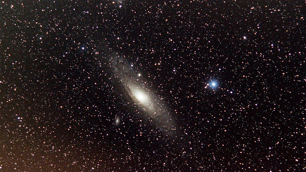 Andromeda Galaxy - Soligor 78/210 - 40x 120s