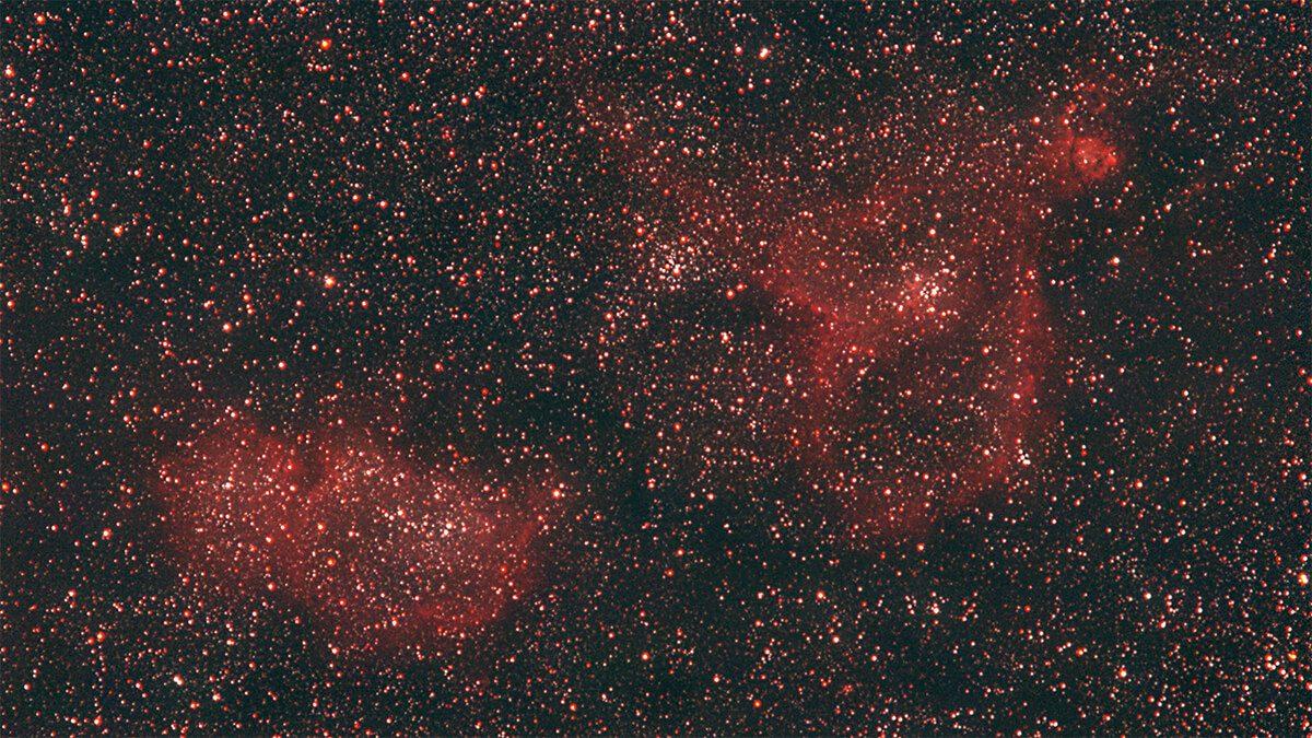 Heart & Soul Nebula - Takumar 200mm - 100x 180s